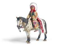 Schleich 70300 Sioux Häuptling auf Pferd